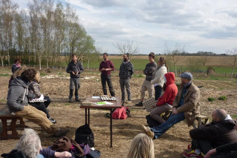 Créatissage Agroécologie Ariège - travail en groupe